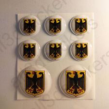 Adesivo Germania Resinato 3D Adesivi Emblema Stemma Germania Resinati TONDO