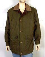 vtg Woolrich euc Olive Field Coat Barn Jacket Flannel Lined Insulated Men's L