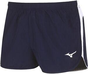 Mizuno Auth Split Mens Running Shorts - Blue