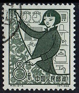 CHINA 1959 First Ann. of Peoples Communes Trade Woman 8 f STAMP