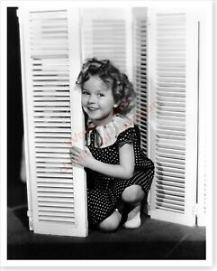 Movie Actress Shirley Temple Posing With Shutters Silver Halide Photo