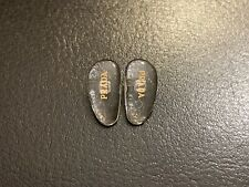 Replacement 15mm Nose Pads for PRADA Eyeglasses/Sunglasses W/ Screws Gold