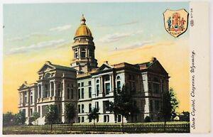 Vintage Cheyenne Wyoming State Capital Building Postcard