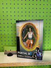 "NECA - Portal 2 - 7"" Scale Action Figure - Chell with Light-Up ASHPD Accessory"