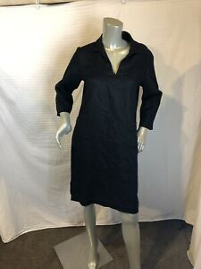 Gap 3/4 Sleeve Linen Black Tunic Dress  Size 4