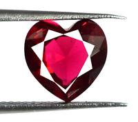 100% Natural Heart Shape Burma Ruby Gemstone 2.45 Ct VS Clarity AGSL Certified