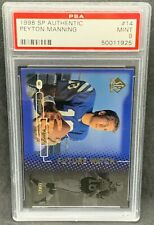 1998 Upper Deck SP Authentic #14 Peyton Manning PSA 9 Mint HIGH END!