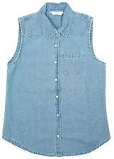 Chemises et chemisiers bleu pour fille de 2 à 16 ans