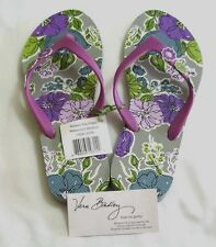 Vera Bradley WATERCOLOR Flip Flops MEDIUM 7/8 Shoes for PURSE Tote BEACH  NWT