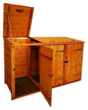 More details for single/double/triple/quadruple wheelie bin store/shed with recycle box