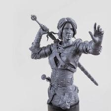 130mm Resin Female Warrior Sword Woman W/Base Unpainted Unassembled X349