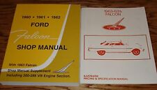 1963 Ford Falcon Car Shop Service Manual Owners Sales Brochure 5 Piece Lot 63