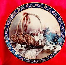 Lena Liu's Basket Bouquets Irises Collector Plate by Lena Liu Ws George 1992