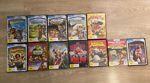 Shrek Madagascar Kung Fu Panda X 12 DVD In Total