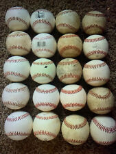 10 USED Baseballs, Mixed Lot Of Leather and synthetic Baseballs Batting practic