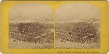 Naplouse Sichem Mt Ebal Palestine Israël Photo Stereo Vintage Albumine ca 1865