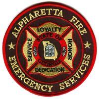 Alpharetta Fire Emergency Services Patch Georgia GA
