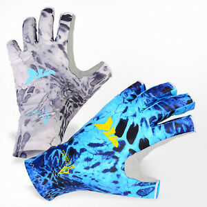 KastKing Fingerless Fishing Gloves SPF 50+ Men's Women's Sun Protection Glove AU