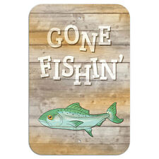 "Gone Fishing Novelty Metal Sign 6"" x 9"""