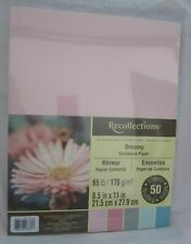 """50 Sheets Recollections Cardstock Paper 8 1/2"""" x 11"""" 65 lb 5 colors Dreamy"""