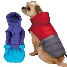 TREK PUFFY JACKET All Weather Dog Coat Warm Vest Removable Hood LARGE PURPLE