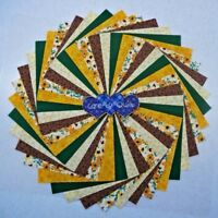Charm pack squares 50 per pk. Golden Floral Quilting Fabric,