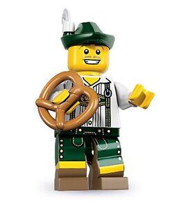 Lego minifig series 8 Lederhosen Guy man pretzel german Bavarian austrian swiss