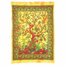 Yellow Tree of Life Wall Hanging Poster Tapestry BOHO HIPPY ART HOME DECORATION