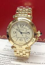Cartier Pasha 85 0072 38.5mm Yellow Gold Serviced by Cartier