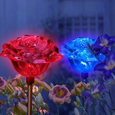 Solar Wholesale 1047-2 A pack of 2 Roses Solar lights for Garden Outdoor Decor