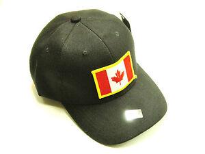 Canadian Flag Hat baseball cap patch black ballcap O Canada maple leaf