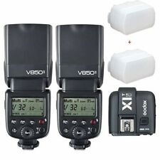 2*Godox V850II GN60 2.4G HSS Camera Flash Speedlight +X1T trigger for Canon DSLR