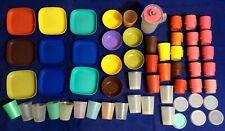 Lot 58 Pcs TUPPERWARE Mini Toys Bowls Plates Pitcher Mugs Cups Lids
