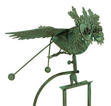 east2eden Rocking Balancing Flying Owl or Crow Metal Garden Wind Rocker Spinner