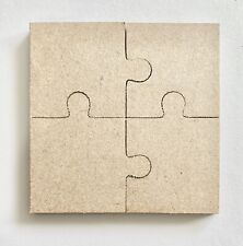 3mm 25 Piece Wooden Jigsaw Square Unpainted MDF Craft Blanks Wood