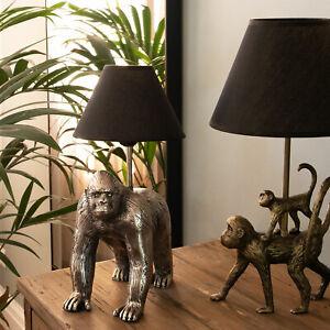 Tischlampe 20*14*31cm/E27 Afrika Look Affen Affe Lampenfuß Clayre&Eef 6LMP654