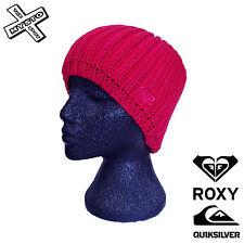 """QUIKSILVER ROXY """"Mellow"""" Femme Beanie Azalea Rose à grosses mailles hat cap Surf Bnwt"""