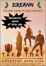 Take That The Greatest Hits Tour Concert Show Tickets Ticket Christmas Card A5