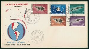 Mayfairstamps Suriname FDC 1964 Shuttle Combo Earth First Day Cover wwp_65705