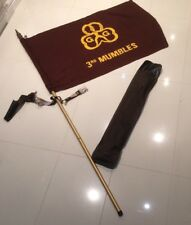 Vintage Girl Guides Flag Pole, Rusted Belt And Broken Case -3rd Mumbles Brownies