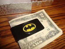 "BATMAN Logo 1"" Polyurethane Dome Stainless Steel-Metal Black Money Clip"