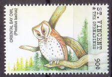 Oriental Bay Owl, Birds of Prey, St. Vincent & Gr. 2001 MNH