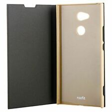 NEW ROXFIT OFFICIAL SONY XPERIA XA2 ULTRA BOOK CASE STAND FUNCTION - BLACK GOLD