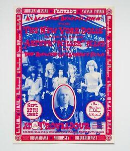 The New York Dolls Killer Kane 1992 Benefit Concert Poster Morrissey Motley Crue