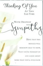THINKING OF YOU WITH DEEPEST SYMPATHY CARD NICE VERCE INSIDE COMES WITH FREE P/P