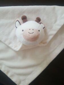"CoCaLo NWT Giraffe Plush Baby Lovey Security Blanket Tan Cream Ivory Beige 12"""