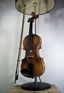 Upcycled Violin Large Country House Industrial/Steampunk Table/Desk Lamp/Light