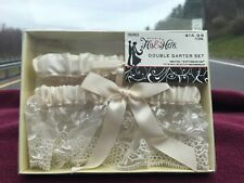 Wedding-His and Hers Double Garter Set