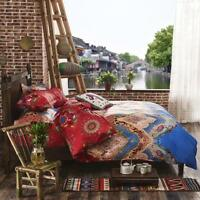 Ethnic Single Queen King Doona Duvet Quilt Cover Cotton Bedding and Pillow Case