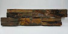 pièces de PATRON LE pierre naturelle Schistes brique murale brun lanières